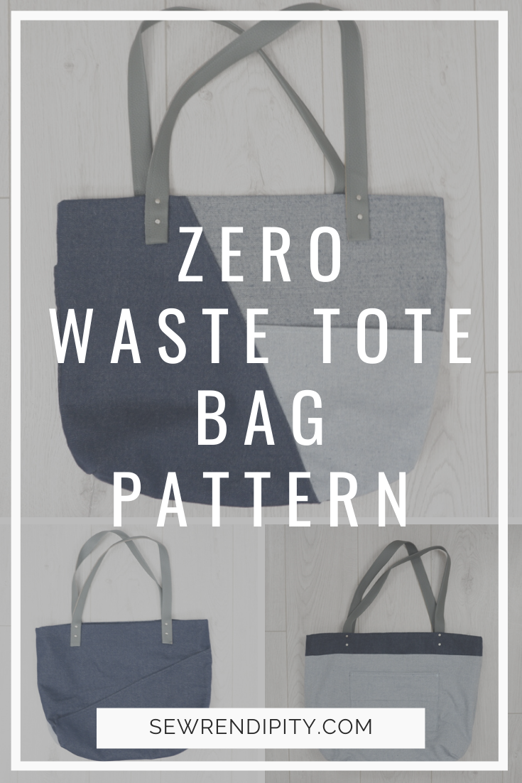 Zero waste bag pattern