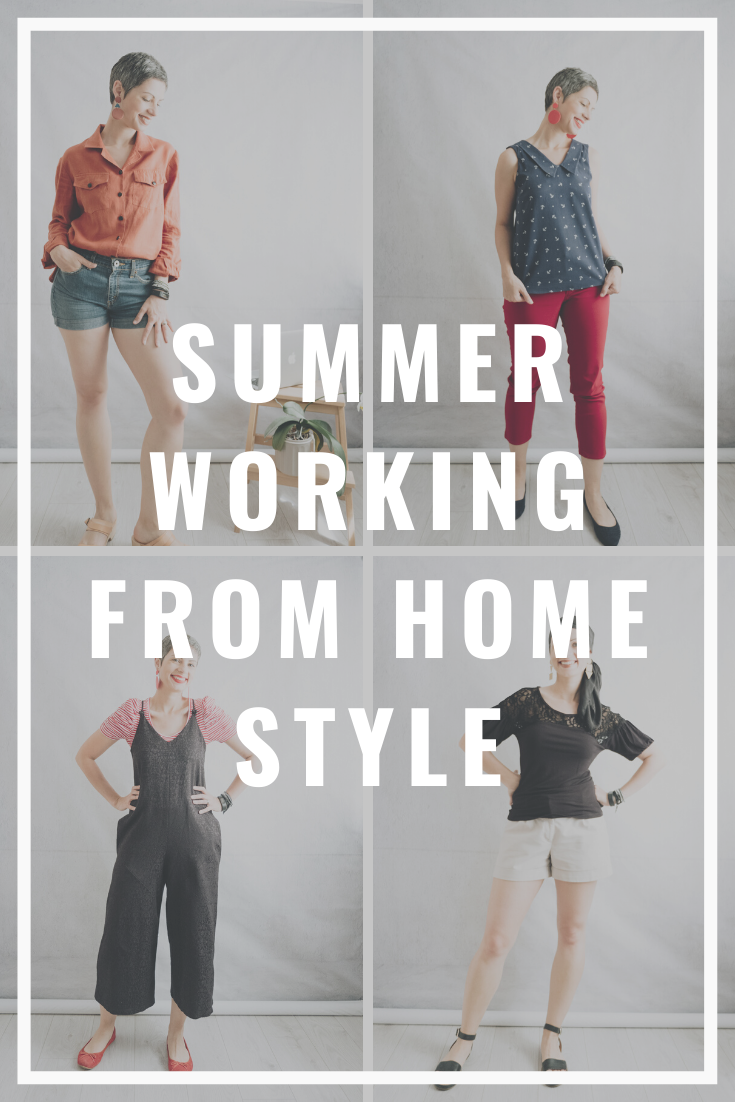 Still working from home? And it's getting really hot? Here are some outfit ideas on what to wear to be cool, comfortable and presentable on zoom. And most of them are DIY-ed. SEWING | STYLE | OOTD