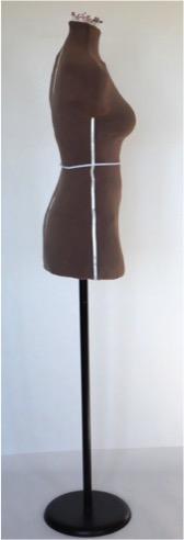 Custom dressform side view