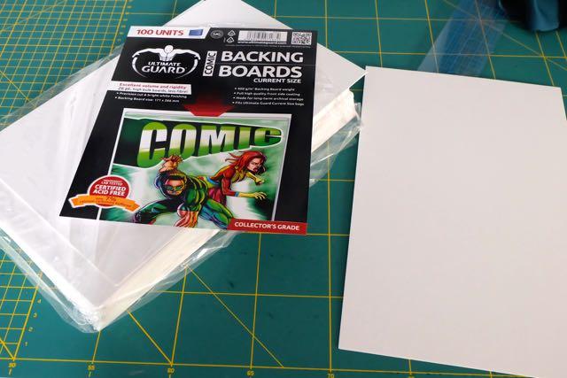 Comic book card fabric organising