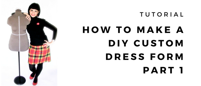 HOW TO MAKE A DIY PLASTER CAST CUSTOM DRESS FORM | PART 1: CASTING THE MOULD