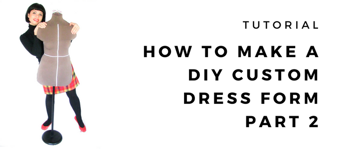 How to make a DIY dress form part 2 | Filling the mould