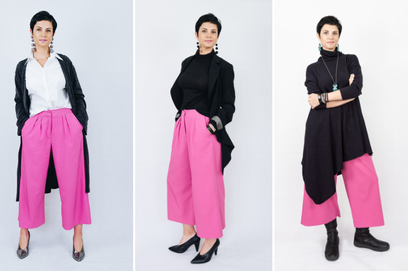 How to style pink culottes for autumn | 3 ideas for work, play and comfort