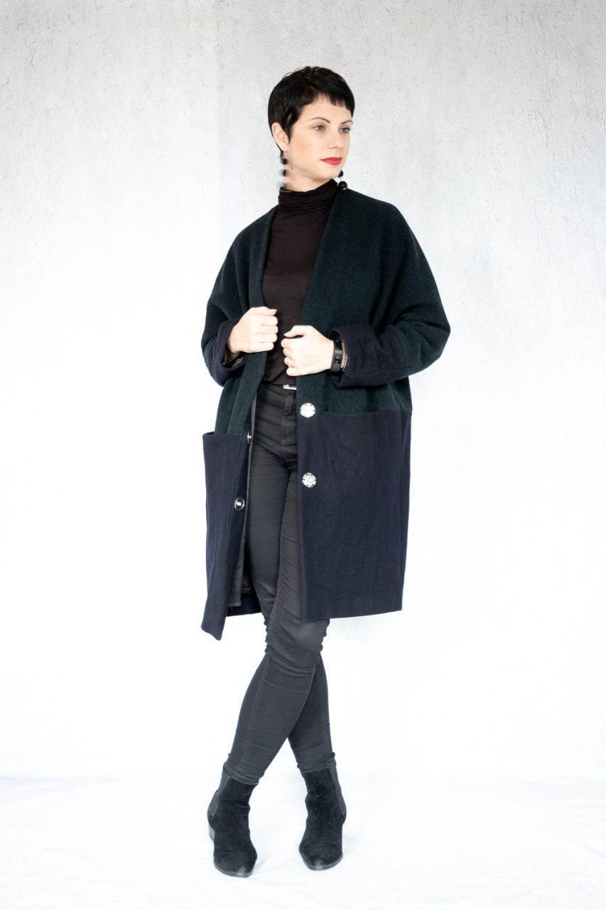 Oversized colour block coat - I am patterns Artemis