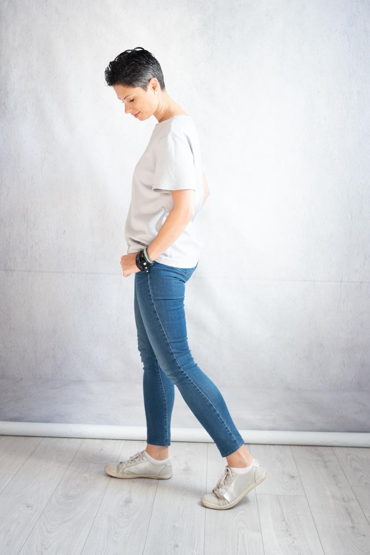 DIY Grey T-shirt with Audrey Hepburn screen print