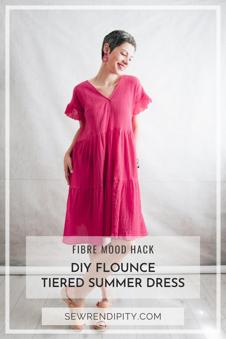 Fuchsia tiered summer dress Fibre Mood Rosalie + Fibre Mood Mira