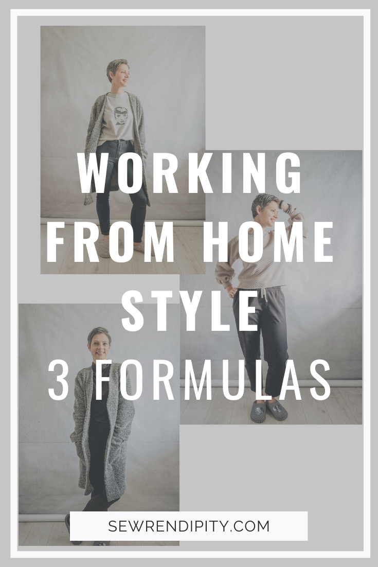 What to wear when working from home? Here are 3 formulas that you can apply to any items in your wardrobe. I have styled items I made myself, as this is Me-made-May 2020.  Sewing | DIY style | Outfits | Lockdown