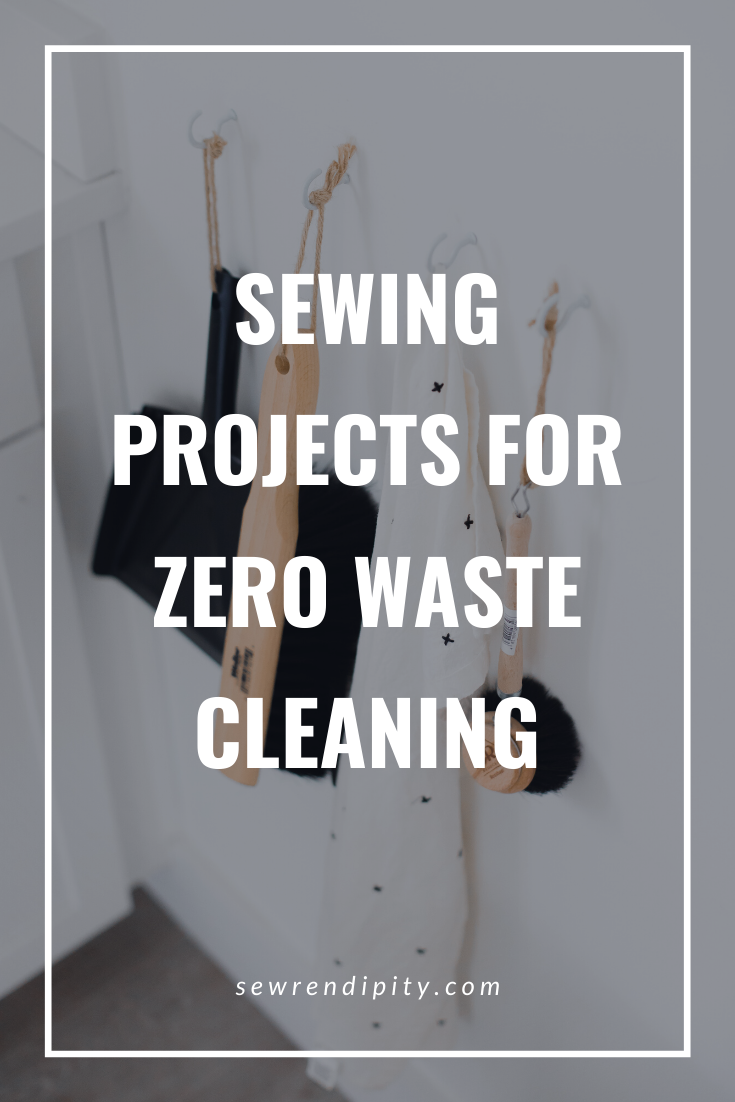 Want to use your sewing skills to reduce your waste? Here are some ideas on how to make house and personal cleaning products with a sewing machine that help reduce your waste. Zero waste | sewing | projects | tutorials